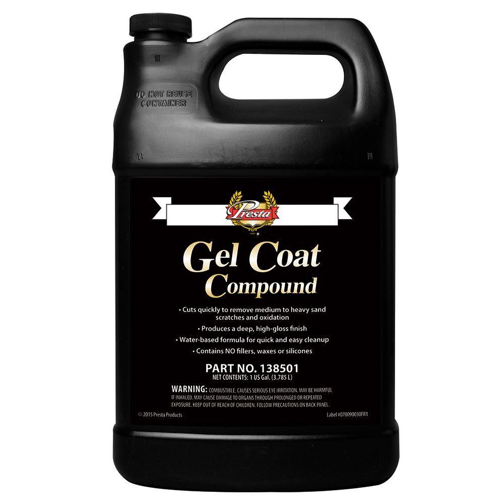 Presta Gel Coat Compound 1 Gallon 138501 Gel Gallon High Gloss Finish