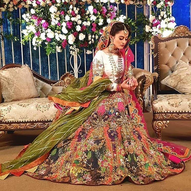 aiman khan wedding pics walima