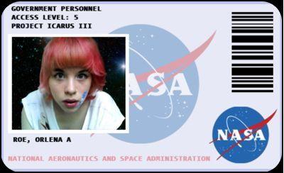Nasa Id Card National Aeronautics And Space Badge Space Classroom Nasa Nasa Party
