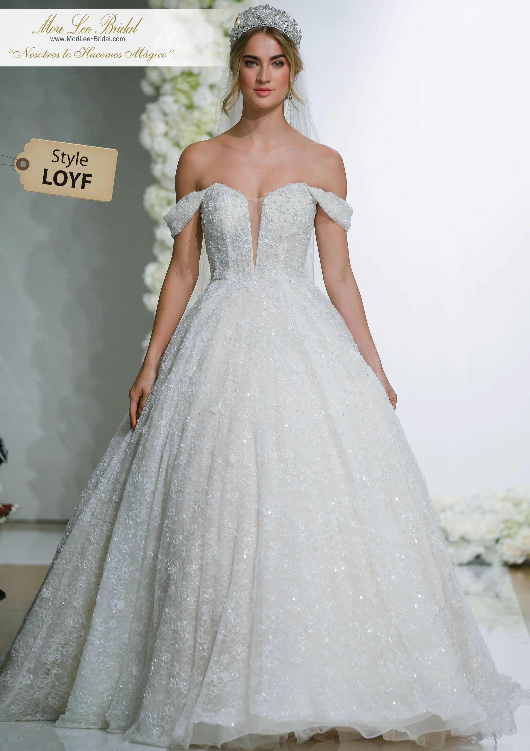 Loyf chantilly lace wedding dress and romantic