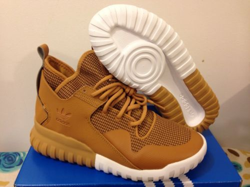 New Adidas Tubular X Mesa Wheat Tan White Gum Brown S75513 Size 4-14 GS