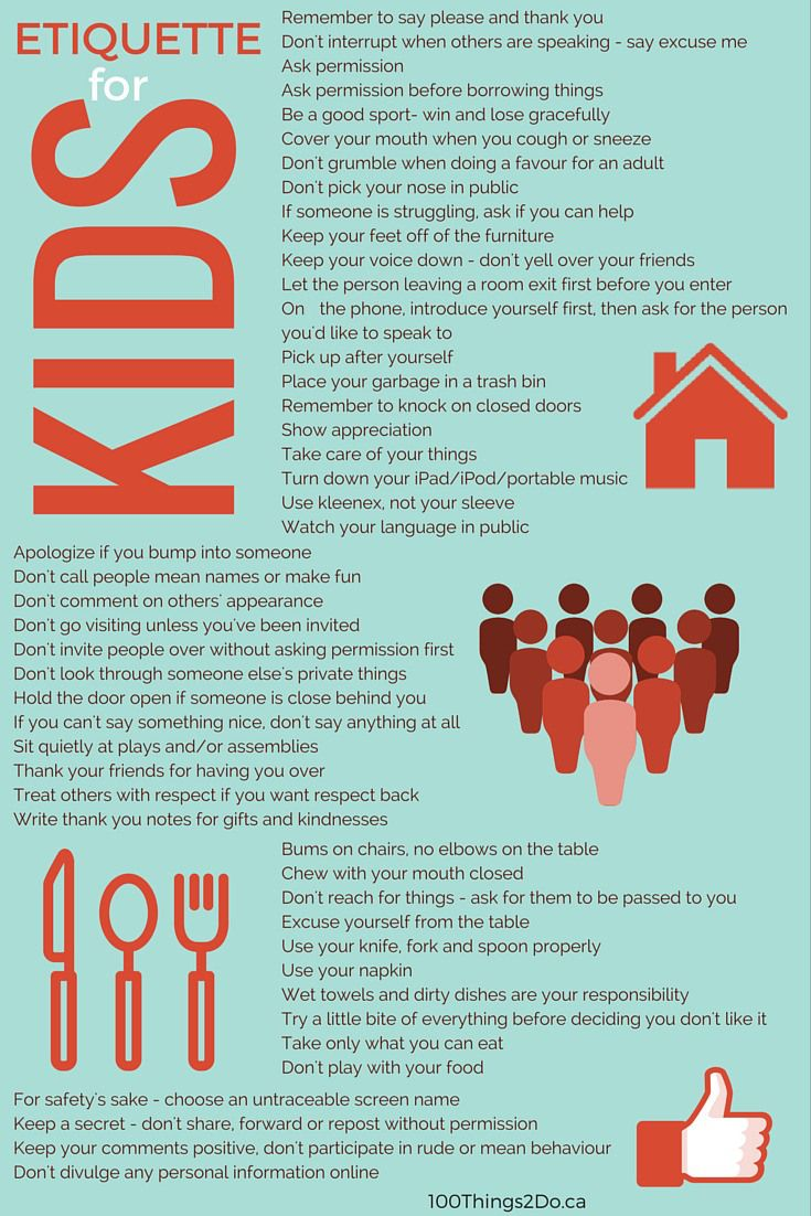 Teaching kids etiquette aka kids and manners etiquette for Table etiquette rules