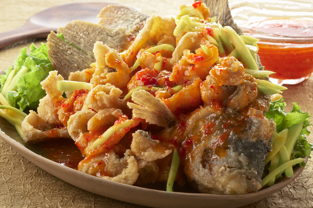 Resep Ikan Gurame Saus Mangga Resep Ikan Makan Malam Makanan Sehat