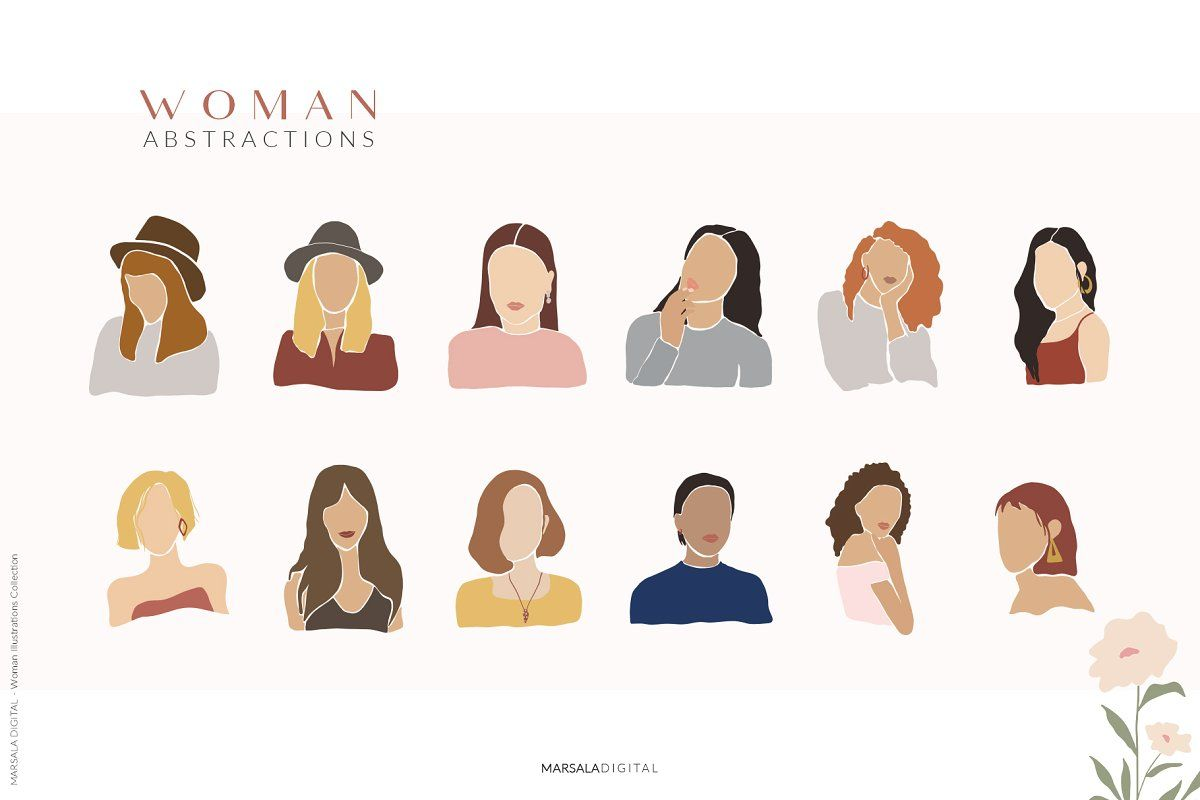 Abstract Women, Woman Illustrations