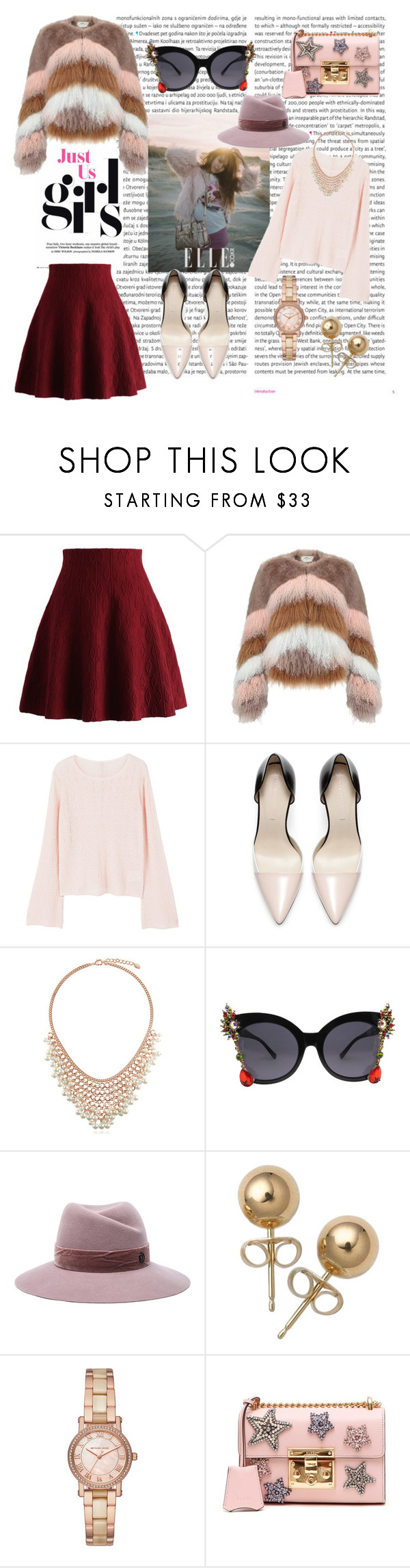 """fake fur"" by cristhyne-torres on Polyvore featuring moda, Oris, Chicwish, Urbancode, MANGO, Zara, BERRICLE, Maison Michel, Bling Jewelry e Michael Kors"
