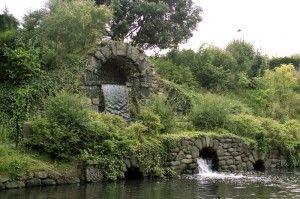 Cascada diseñada por William Kent en Chiswick House. (con