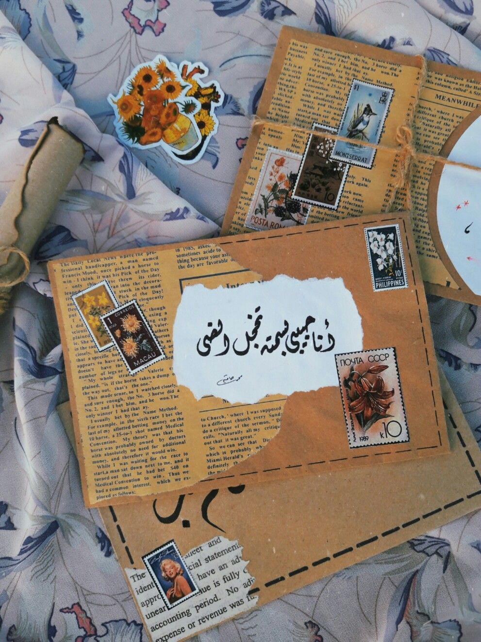 شغلي علي الجوابات Vintage Scrapbook Paper Vintage Scrapbook Mail Art Envelopes