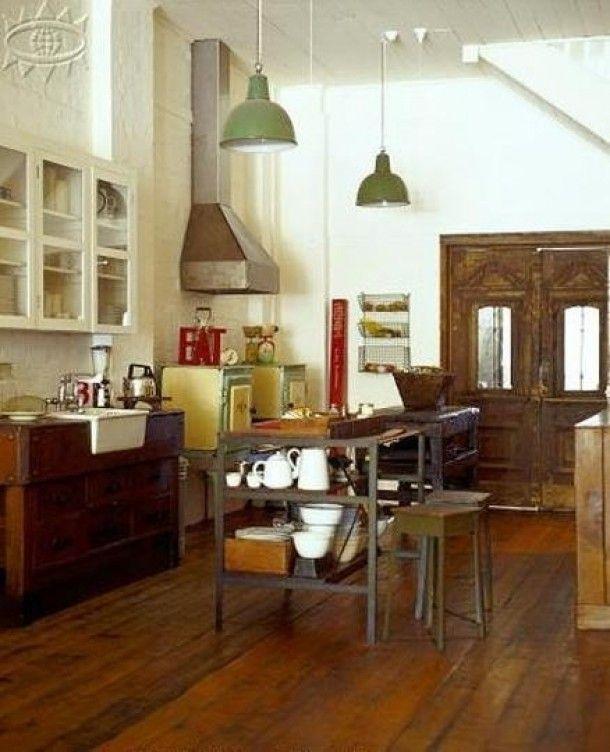 Inspirerend | Vintage keuken met bijpassende kleurencombinatie Door Zaza