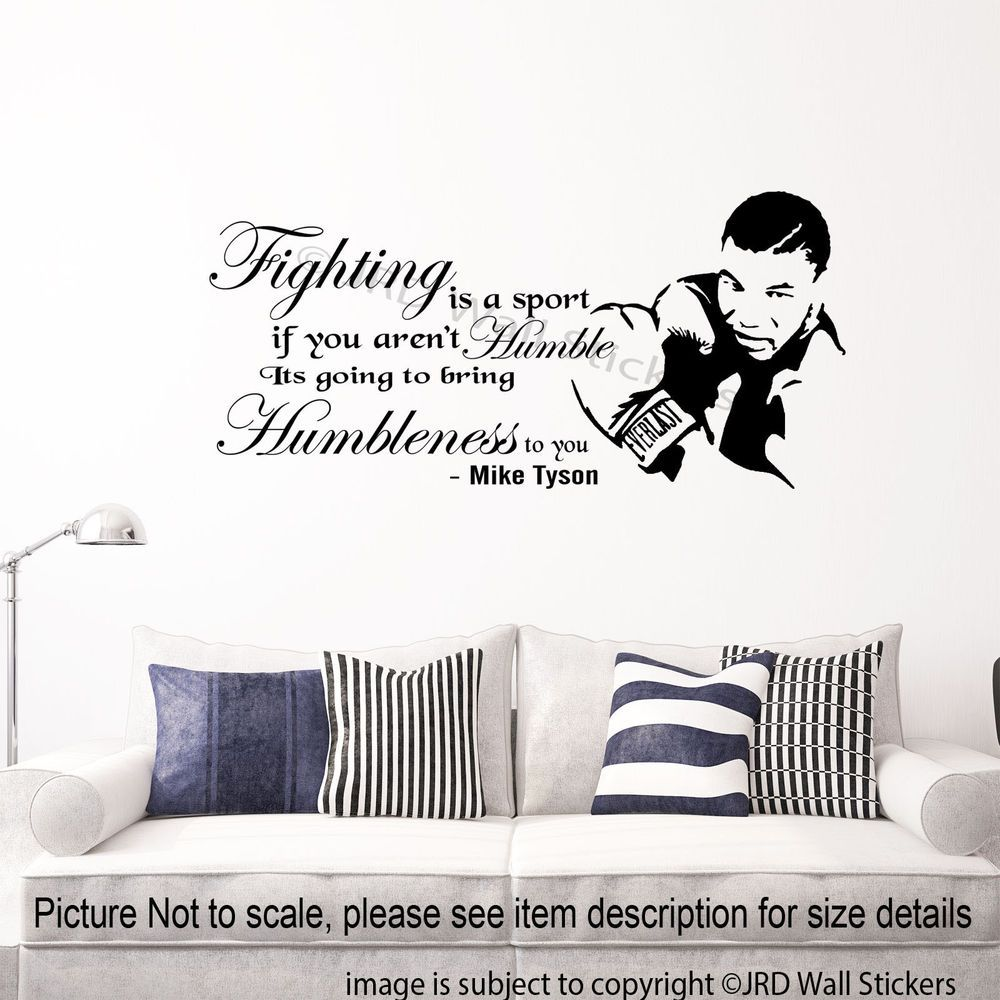 Mike tyson quote sticker fighting is sports gym wall decal mike tyson quote sticker fighting is sports gym wall decal removable vinyl art 1 amipublicfo Image collections