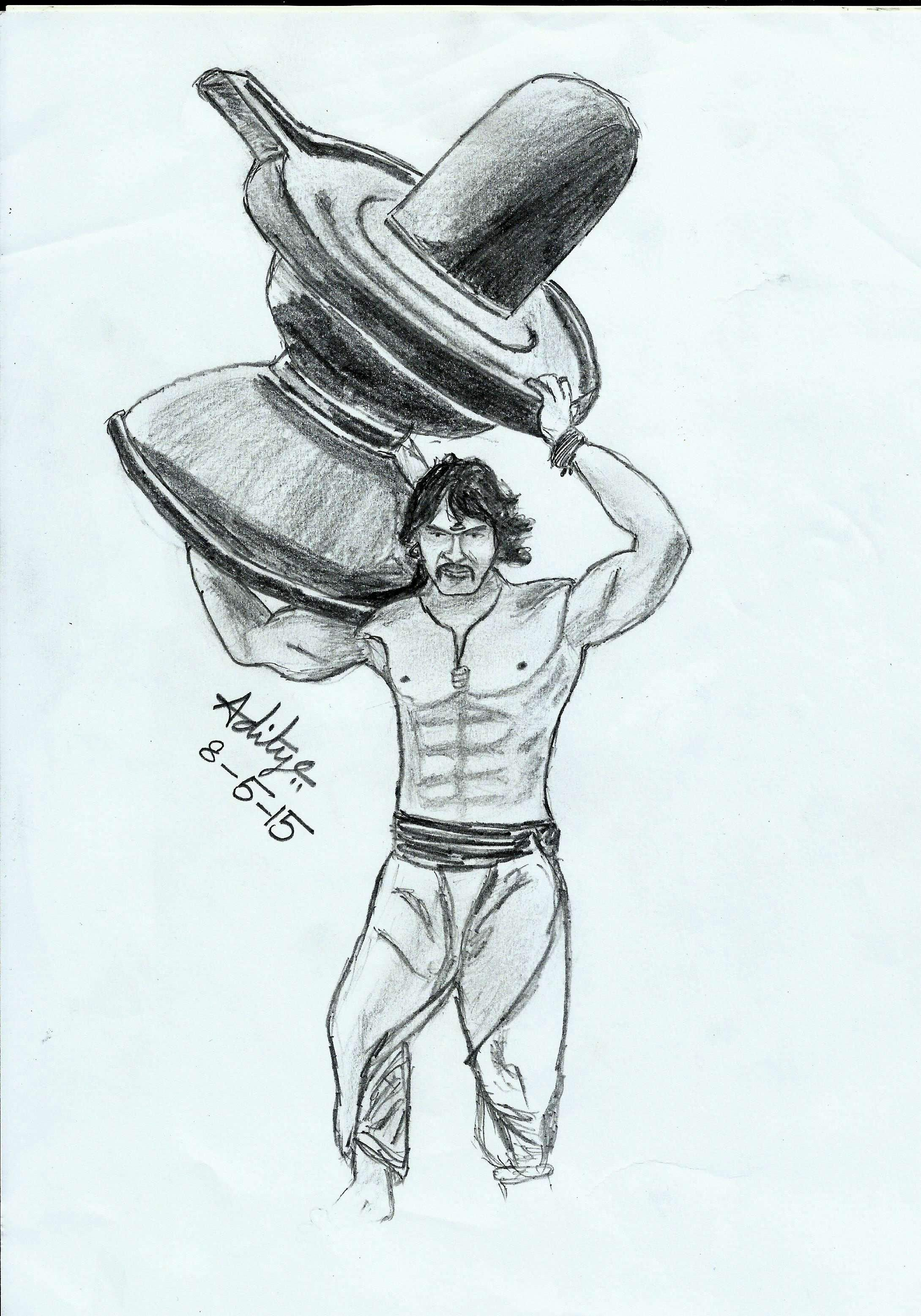 Bahubali 2 Pencil Sketch Black And White Photography
