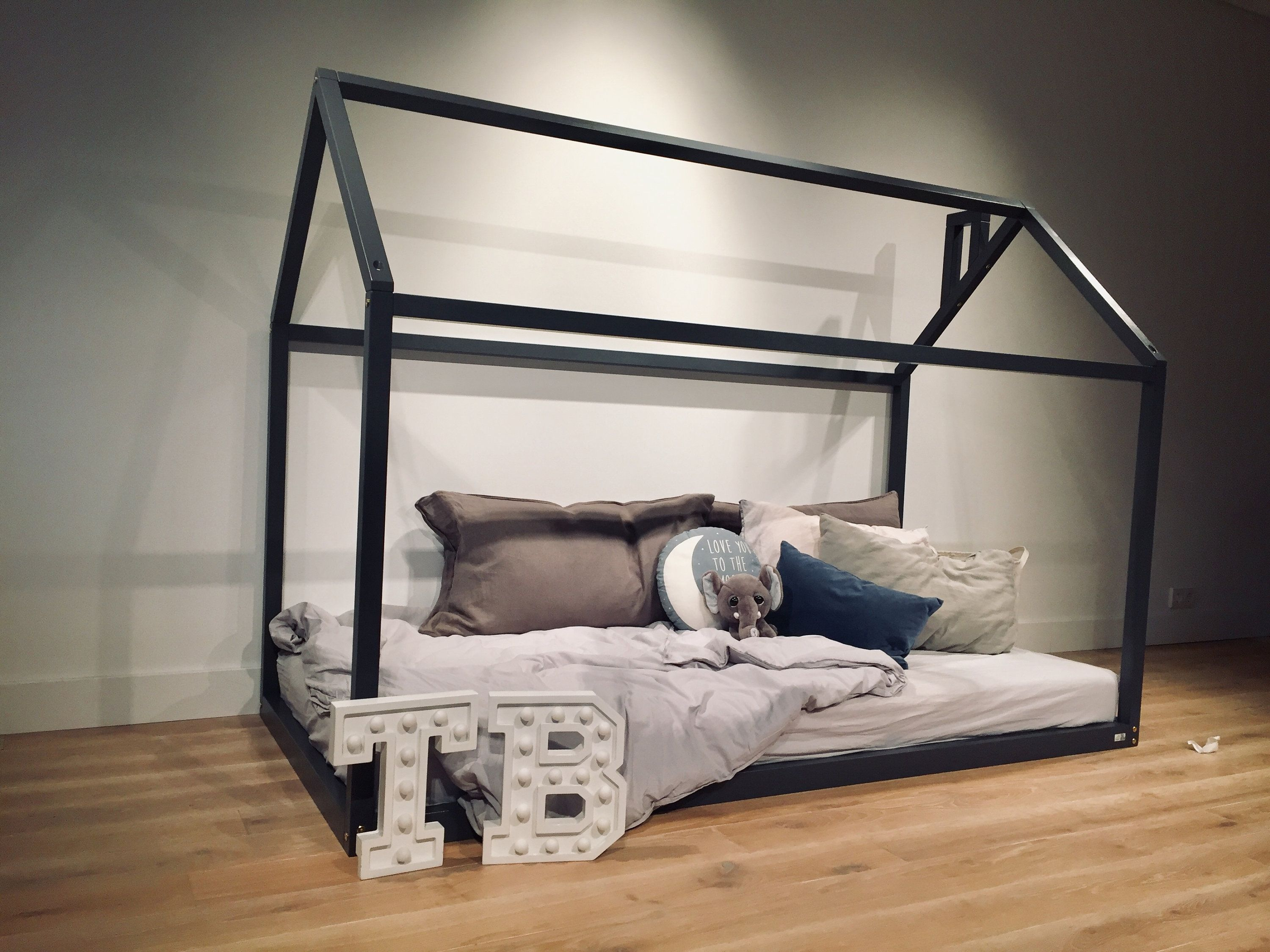 House bed frame FULL, DOUBLE, US Queen, floor bed, toddler