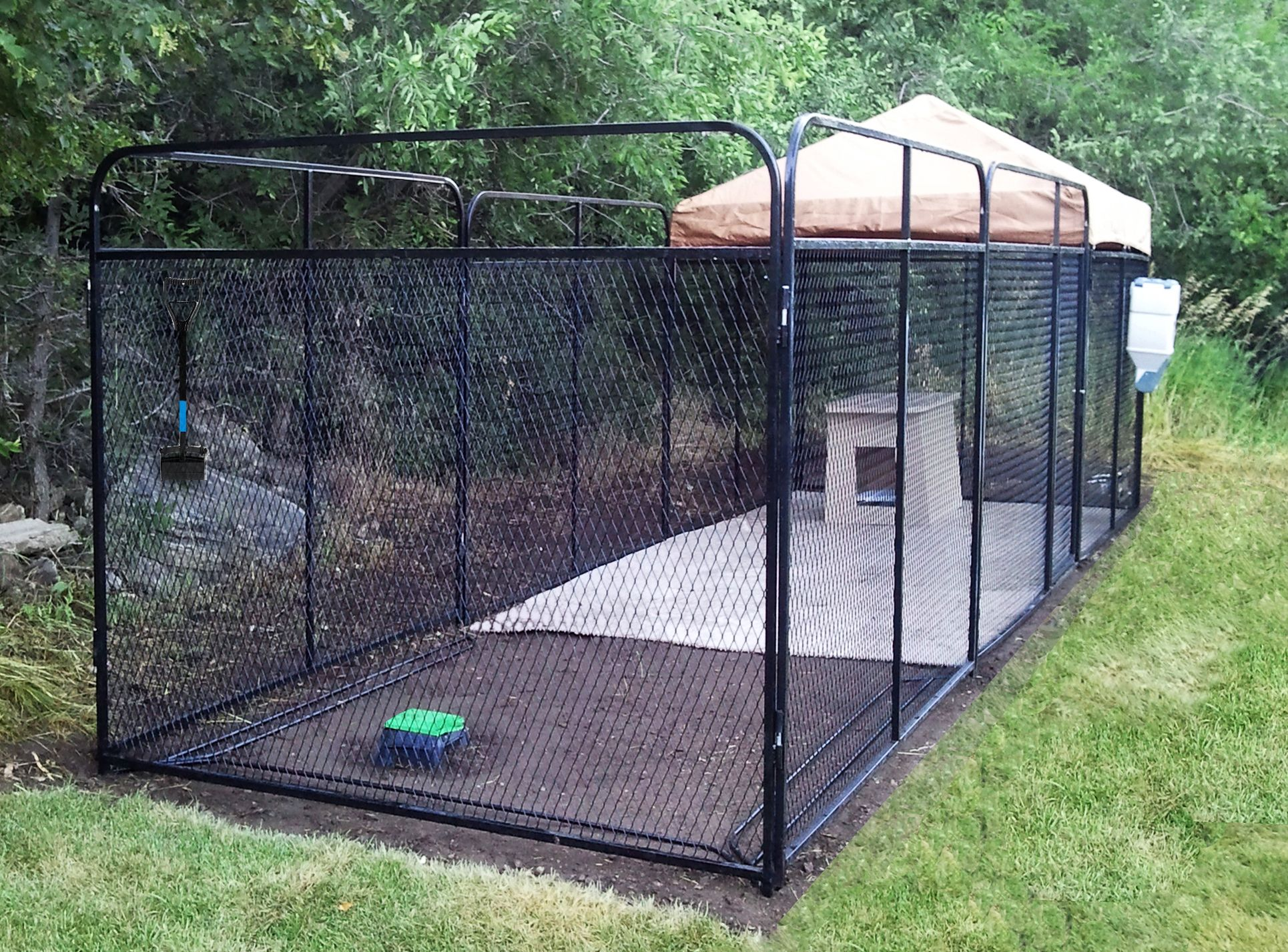 6' X 24' Ultimate Kennel (flooring, cover, dog run w