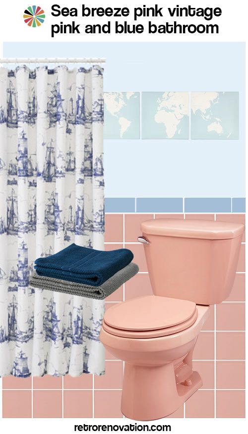 13 Ideas To Decorate A Pink And Blue Tile Bathroom Pink Bathroom Blue Bathroom Tile Light Blue Tile
