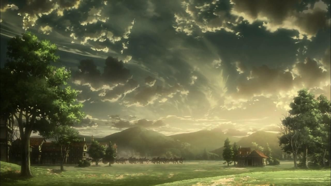 Pin By Angela Kassandra On Shingeki No Kyojin Attack Of The Titans Ataka Titanov É€²æ'ƒã®å·¨äºº Landscape Anime Scenery Attack On Titan