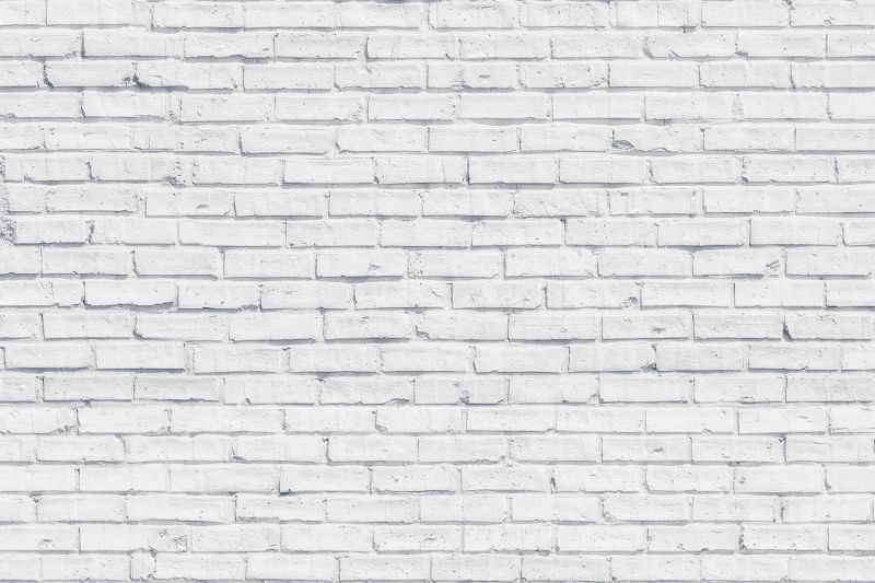 Clean White Brick Wall Mural