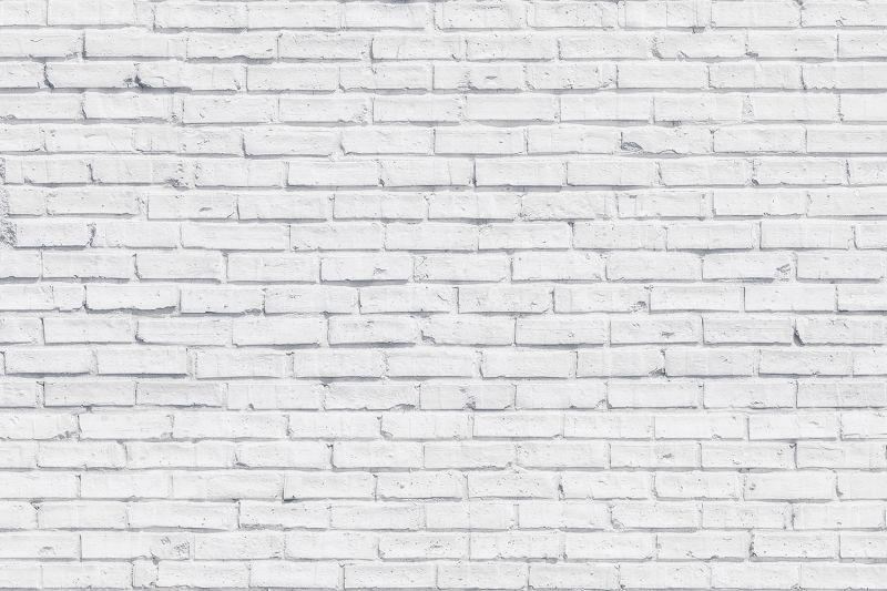 Clean White Brick Wallpaper Mural White brick walls