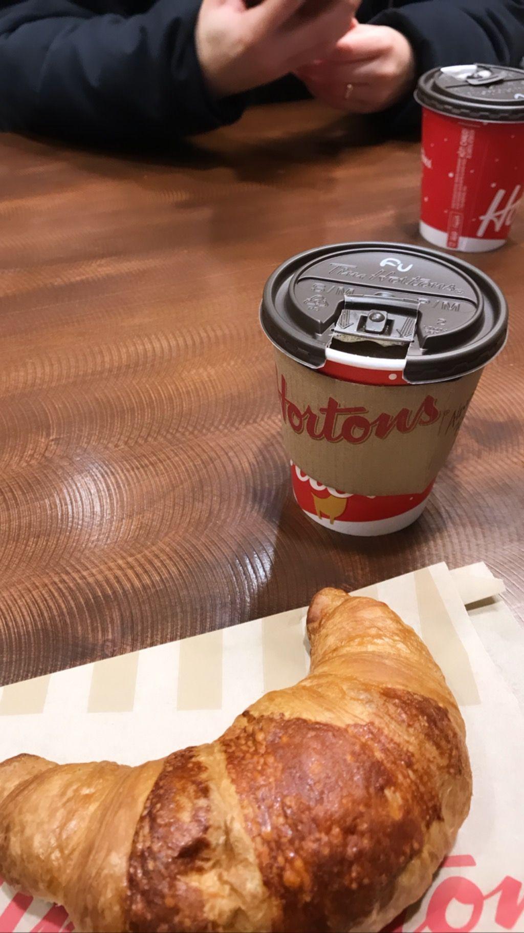 Tim hortons. croissant canada coffee coffeetime