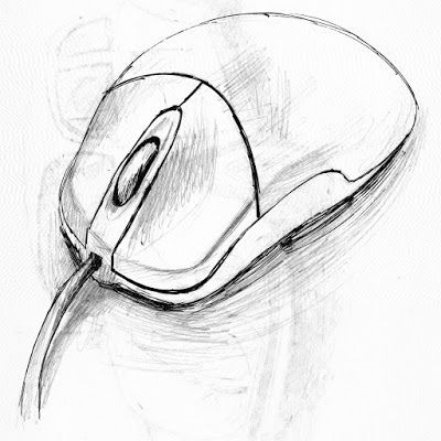 Computer Mouse Sketch Amazing!   Easy drawings sketches ...