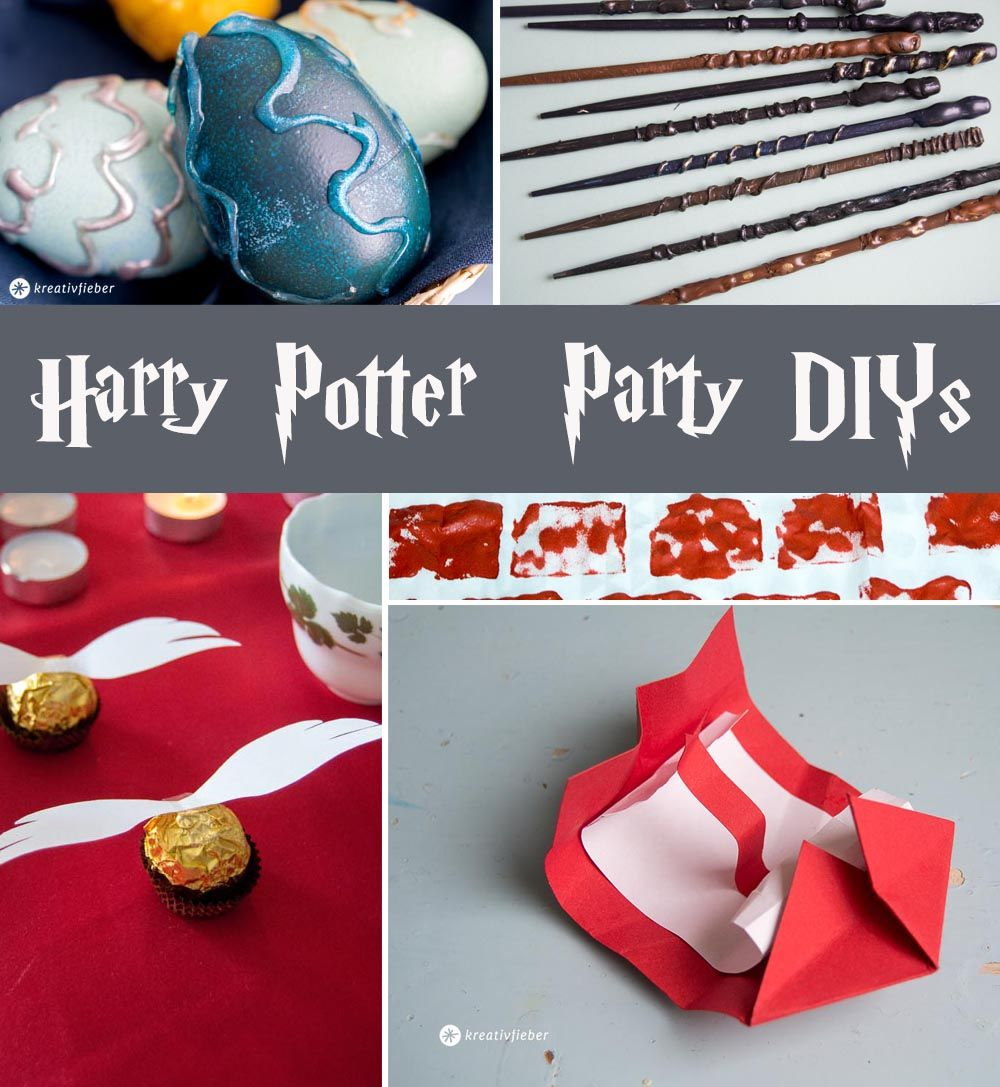 harry potter party ideen basteln mit emma pinterest harry potter harry potter geburtstag. Black Bedroom Furniture Sets. Home Design Ideas