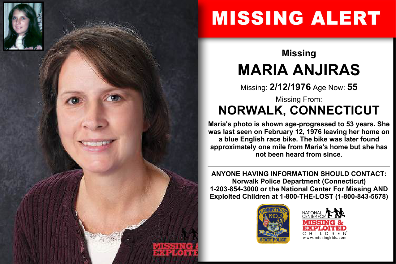 MARIA ANJIRAS, Age Now: 55, Missing: 02/12/1976  Missing