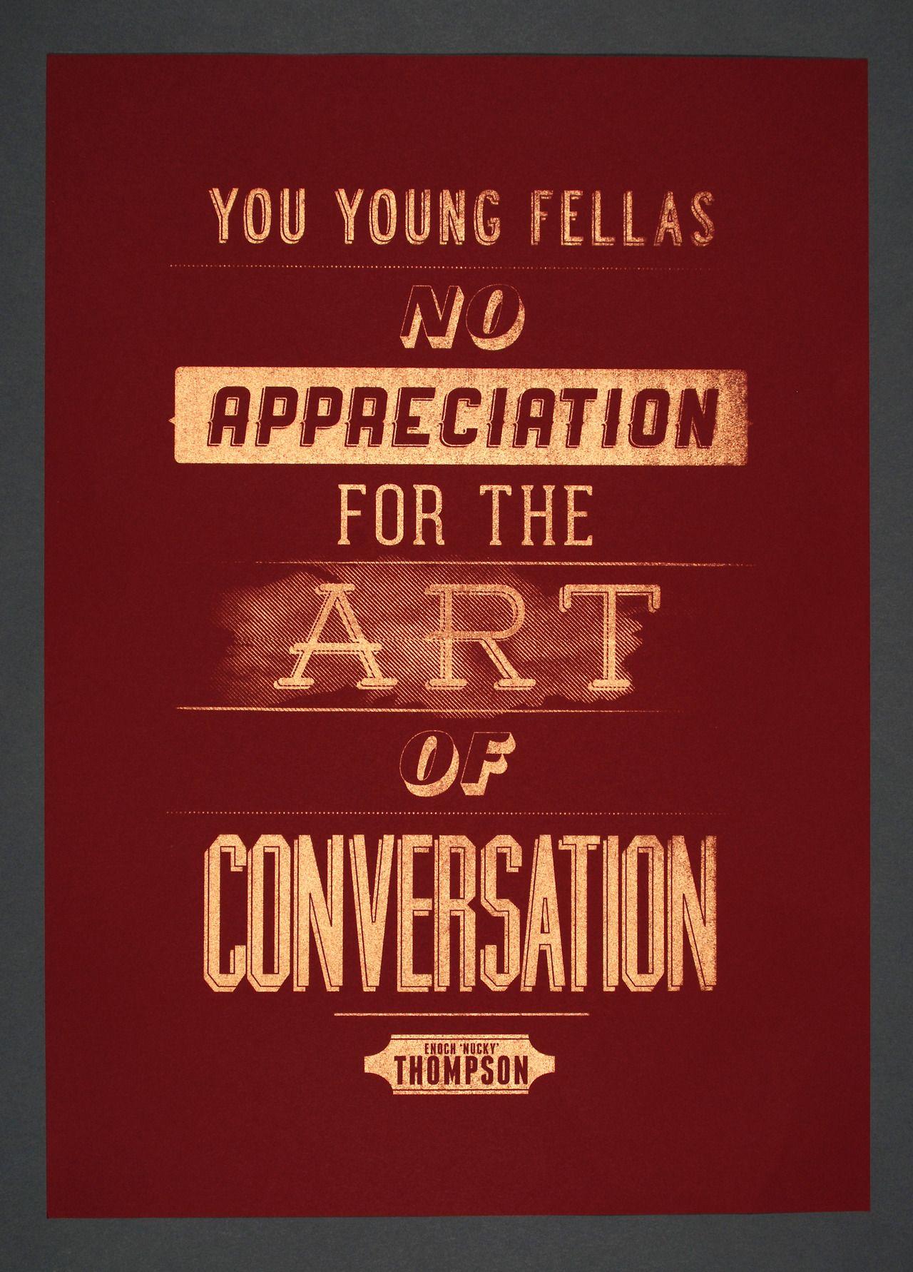 You young fellas