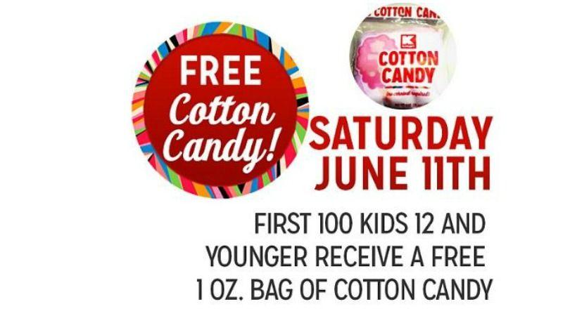 WOW! FREE Cotton Candy at Kmart! Freebie Saturday, 6/11 - http://gimmiefreebies.com/free-cotton-candy-at-kmart-freebie-saturday-61116/