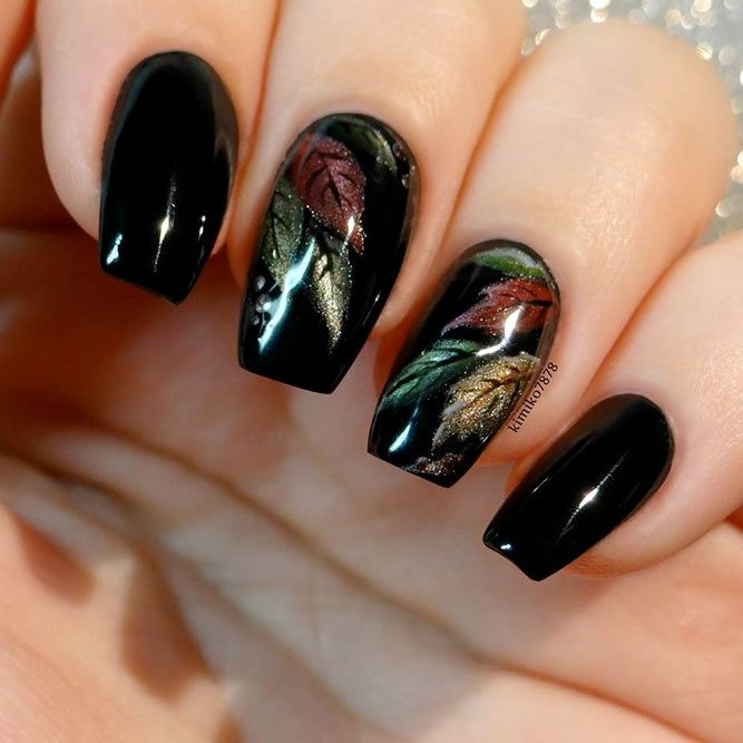 trendy fall color nails