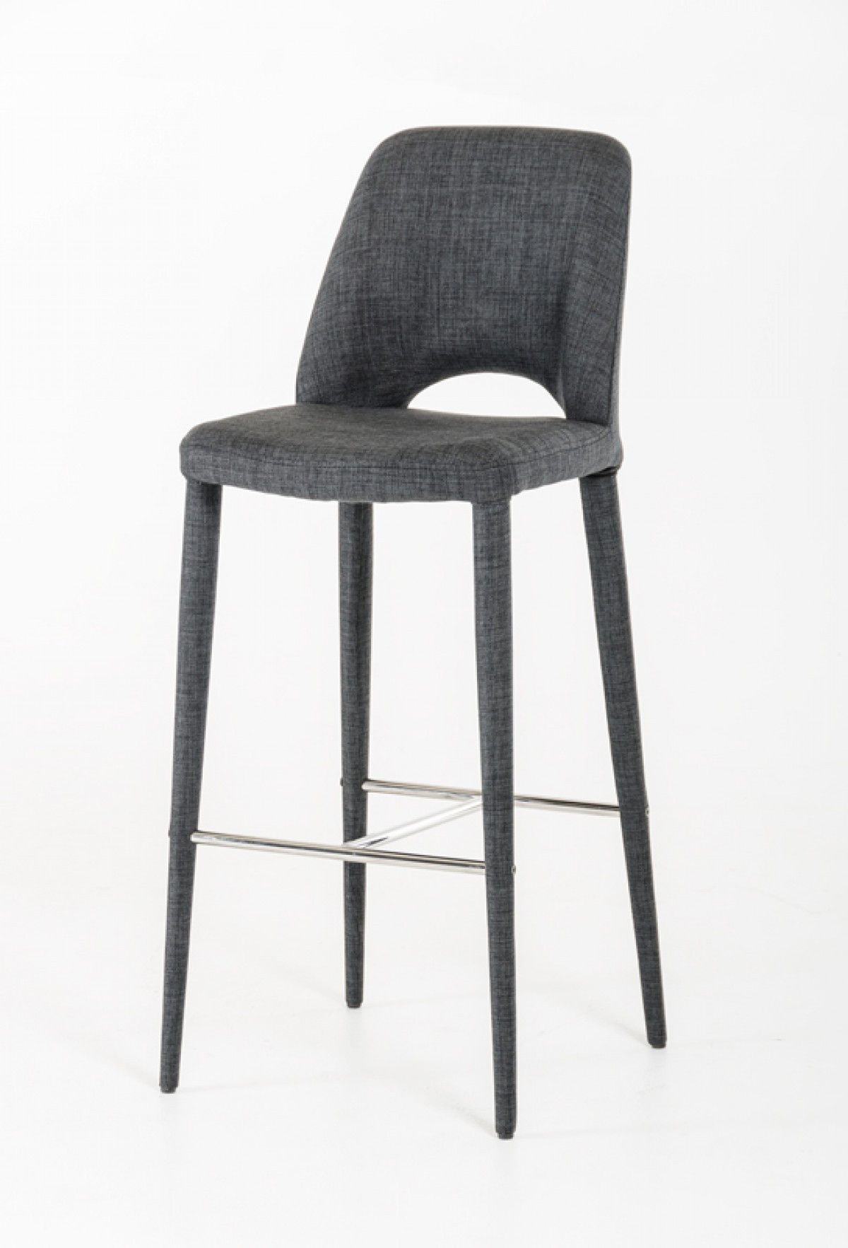 Modern Dark Grey Fabric Bar Stool Modrest Williamette VGEUMC 8980CH B GRY