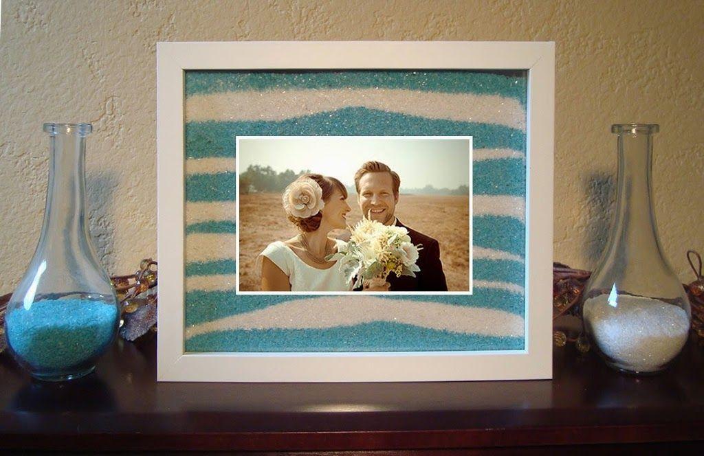 Sand ceremony frame | Wedding Ideas | Pinterest