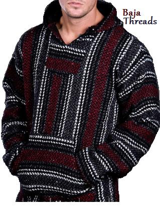 Ron Burgundy Baja Jacket Drug Rug By Mexican Threads