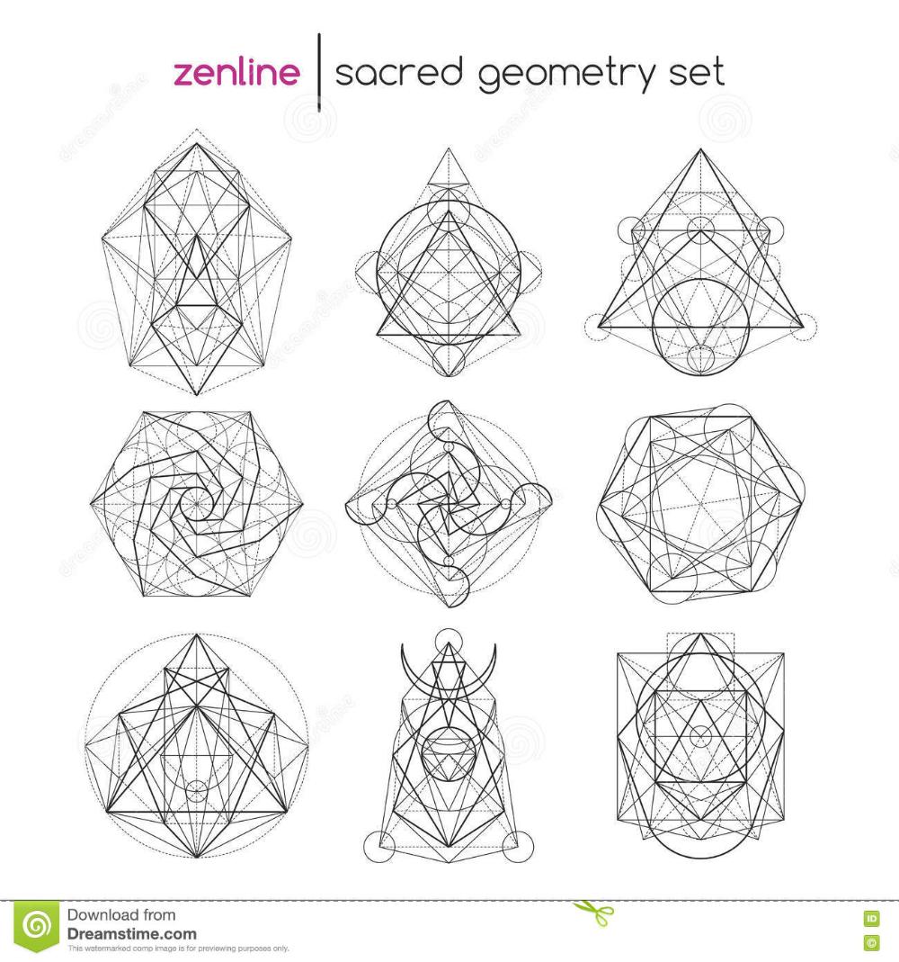 Sacred Geometry Vector Illustrations Ai Eps And Png 24 Etsy In 2020 Sacred Geometry Patterns Sacred Geometry Art Sacred Geometry