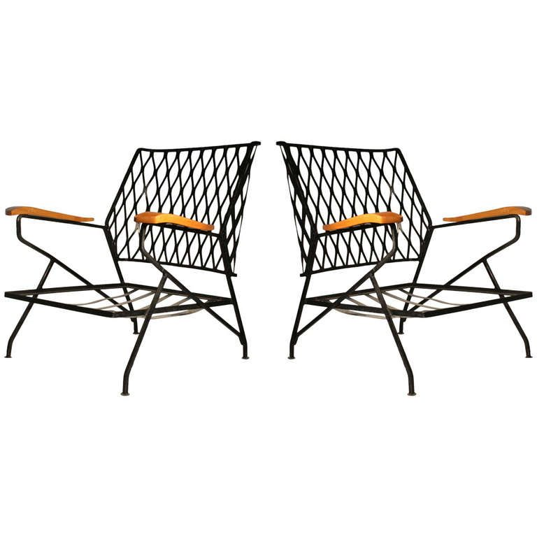 Pair of Salterini Armchairs / Lounge Chairs by Maurizio Tempestini ...