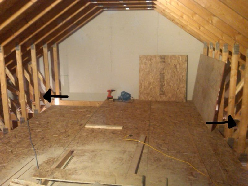 Attic Truss Storage - The Garage