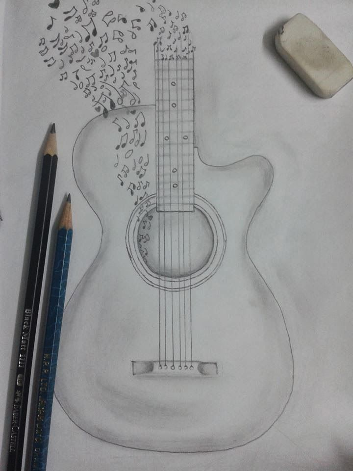 Easy Pencil Sketches Of Guitar