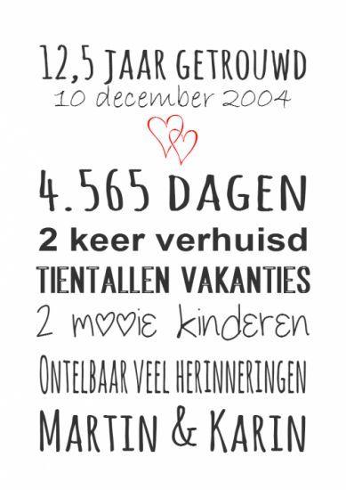12,5 jaar getrouwd | familie | mama - hand lettering, lettering en gifts