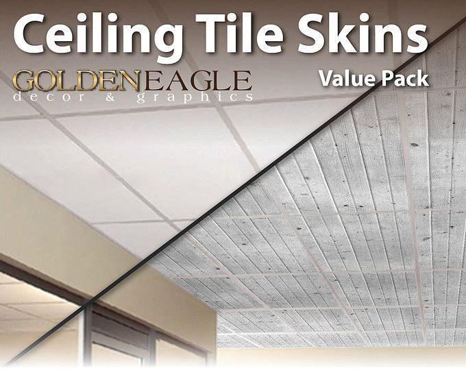 Ceiling Tile Skin Glue Up Wide Dark Knotty Pine Wood