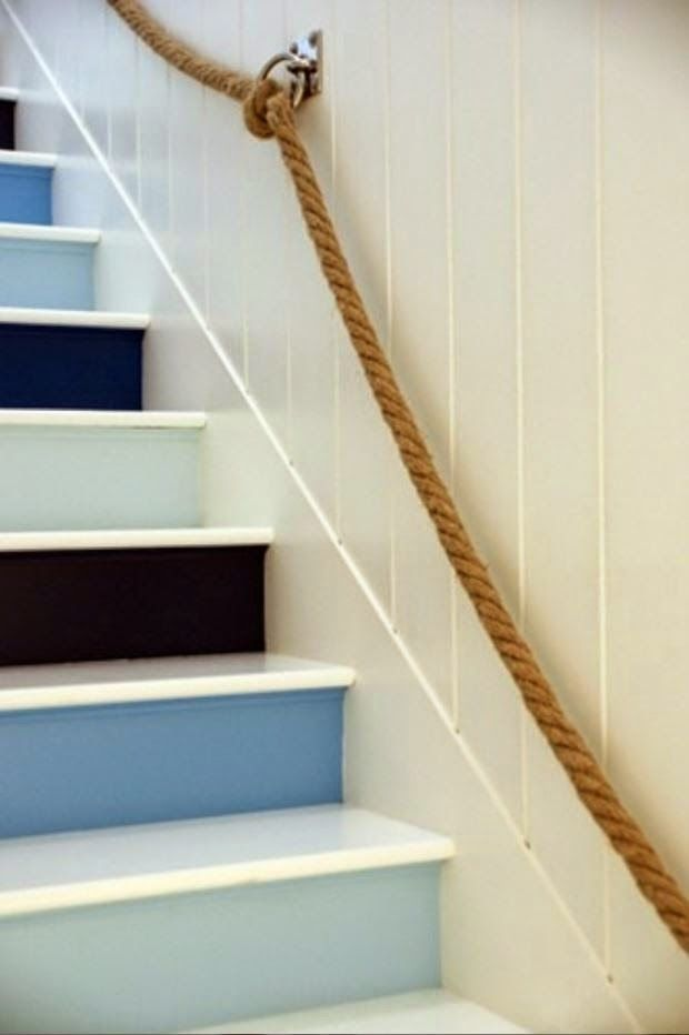 Love the Staircase + added Rope to the wall | ◇ The Beachy Life ...