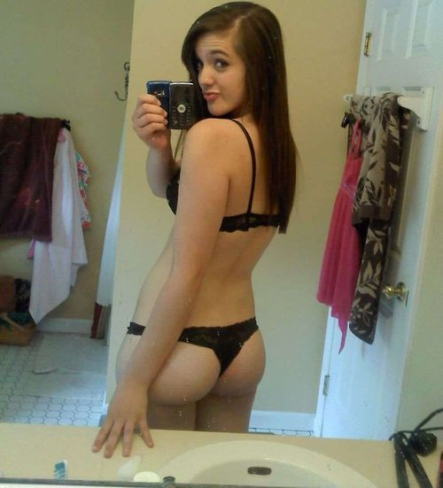 Worry the brunette teen