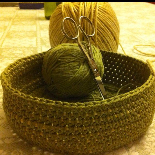 Bowl cotone e spago, da un progetto di Roberta Castiglione