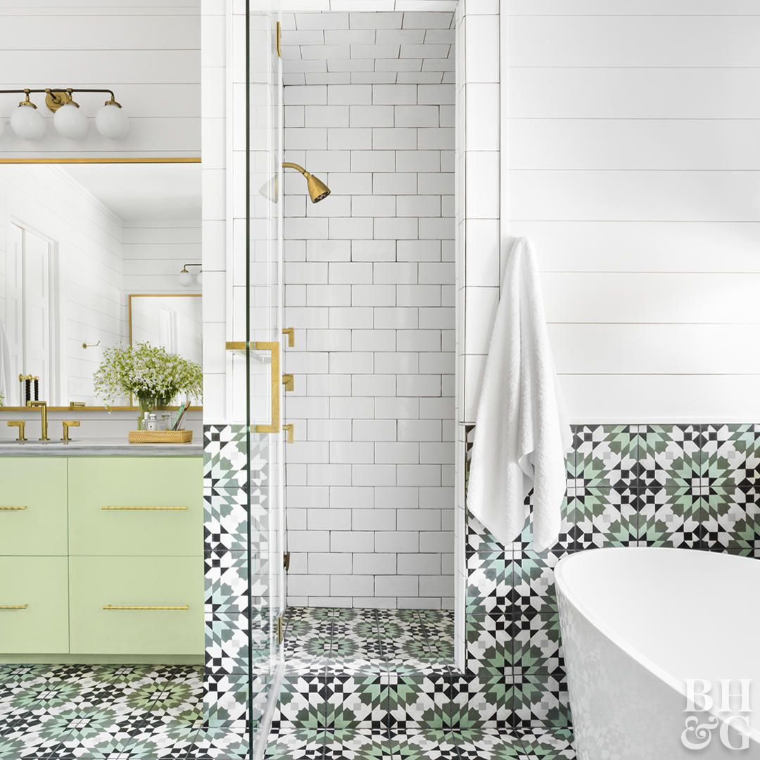 Our Favorite Bathroom Subway Tile Ideas Patterned Bathroom Tiles Vintage Bathroom Tile Subway Tile Bathroom Floor