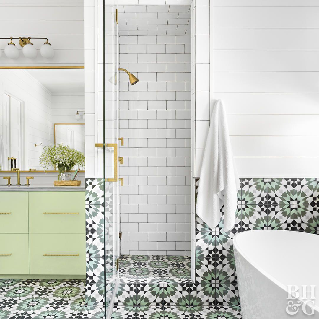 Our Favorite Bathroom Subway Tile Ideas Patterned Bathroom Tiles Subway Tiles Bathroom Bathroom Wall Tile