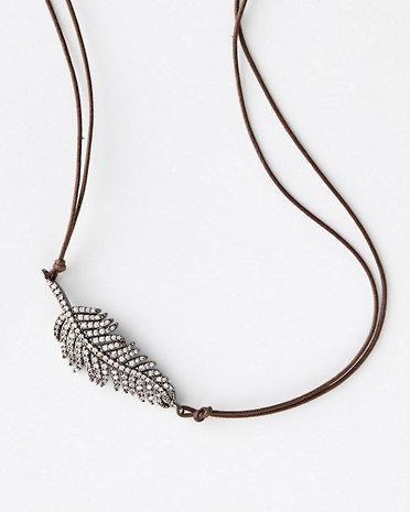 in2 design Feather Necklace Little Black Dresses Pinterest