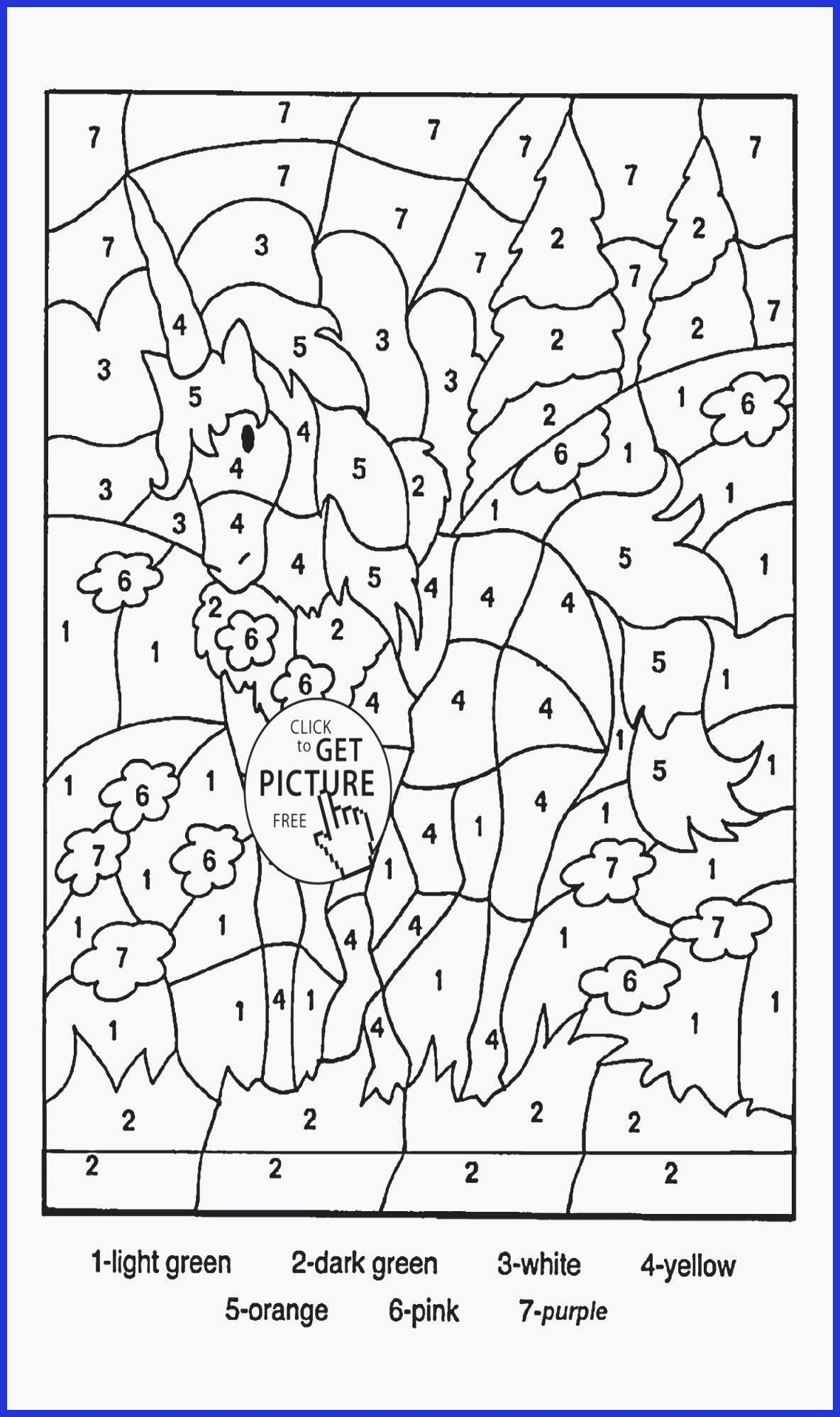 Hard To Color Coloring Pages Unique Fresh Math Color By Numbers