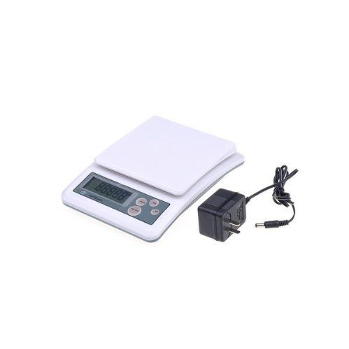 White Digital Scale Power Battery Scale Led Standard Kitchen Scale