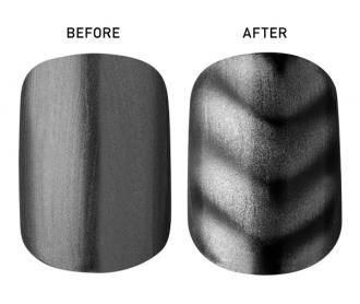 Magnetic nail polish – almost makes up for the fact that we STILL don't have flying cars!  This stuff is seriously cool (Nails Inc.) and quite easy to use.  The only drawback is that it doesn't wear very long without a topcoat...  Other than that the look is fun and totally unique.