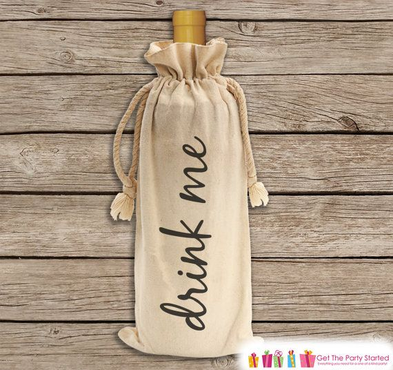 Hostess Gifts Wine carrier Personalized Gifts Wine lovers gift Favor Bags Thank you gift Canvas Wine bags Housewarming gift