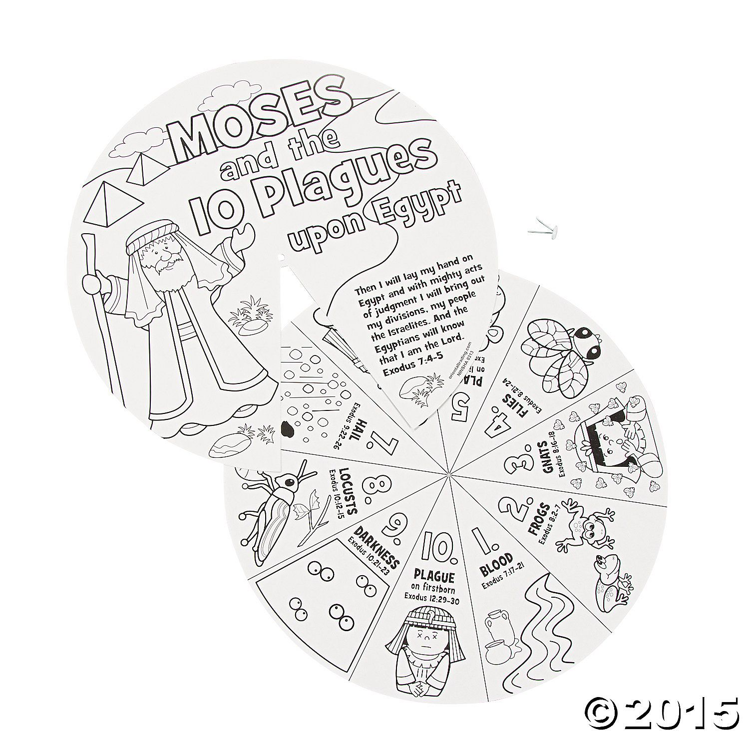 Color Your Own Moses Amp The 10 Plagues Wheels