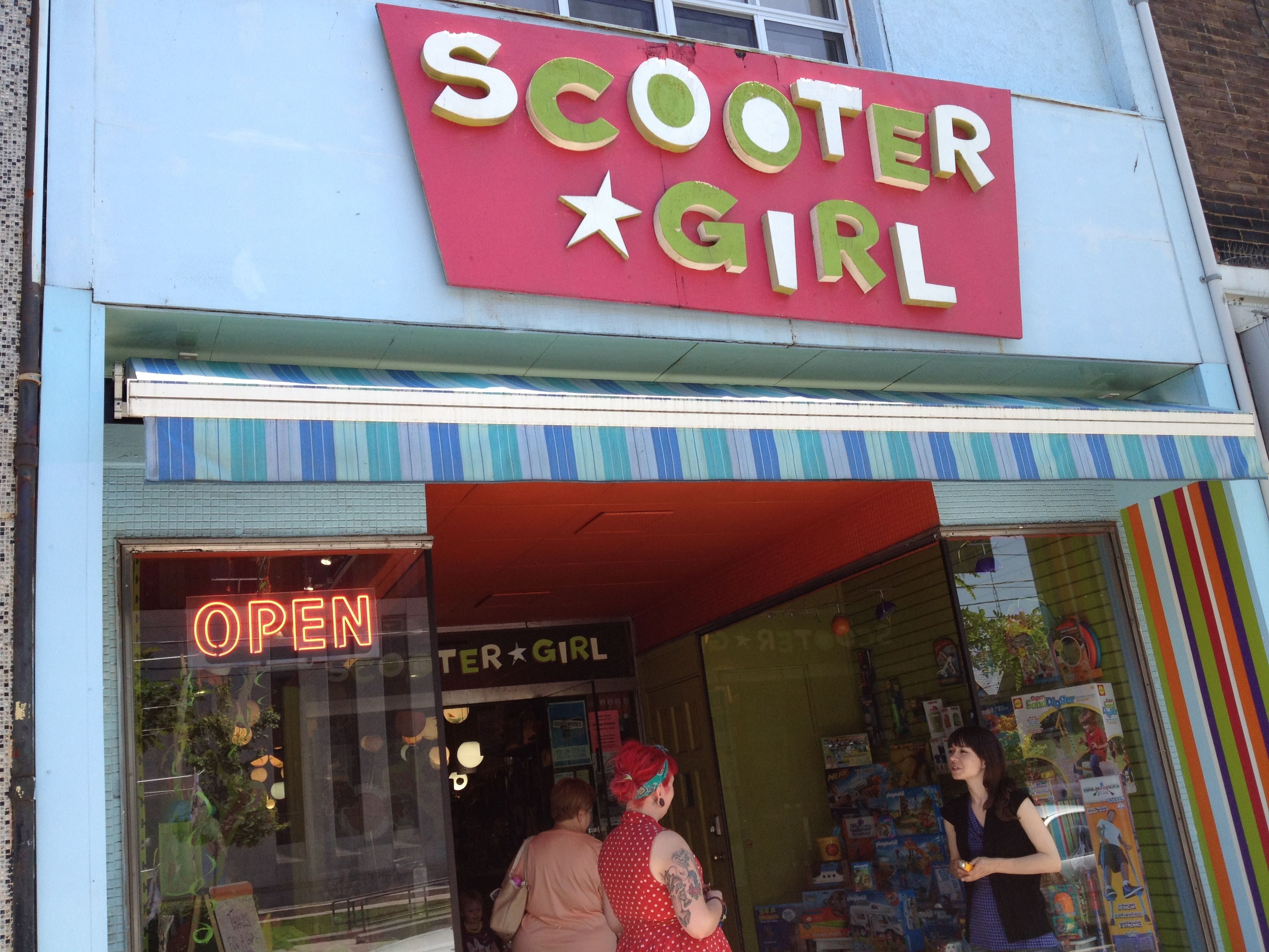 It s always busy at Scooter Girl Toys on Roncesvalles
