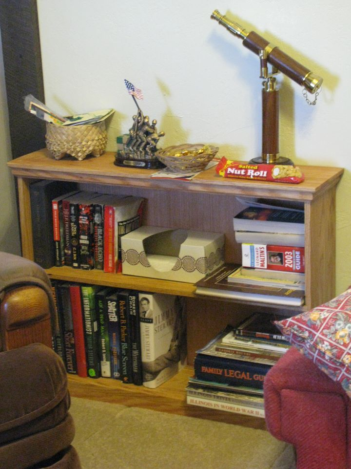 Small Oak Bookshelf