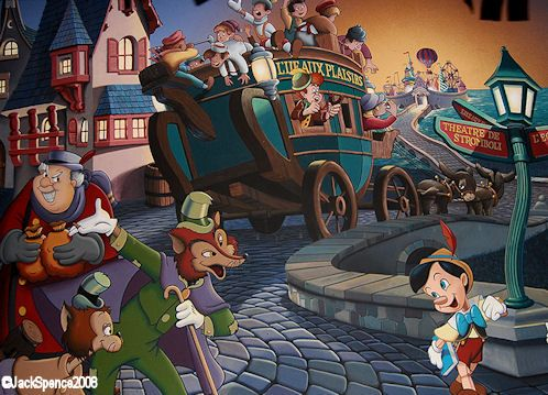 After Following The Sly Fox To Funland Where Everything Bad And Wrong Is Encouraged And Is Handed Out For Free Pinnoc Pinocchio Mario Characters Disney World